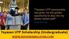 Biasiswa Yayasan UTP Scholarship (Undergraduate)