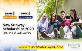 Biasiswa Sunway Scholarships