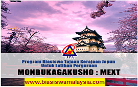 Biasiswa Japanese Government (Monbukagakusho: MEXT) Scholarship for Teacher-Training