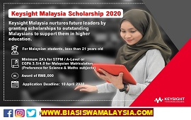Biasiswa Keysight Malaysia 2020