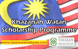 Biasiswa Khazanah Watan Scholarship 2020