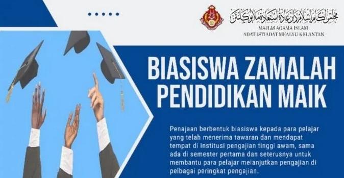Biasiswa Zamalah Pendidikan MAIK