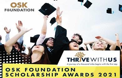 Biasiswa OSK Foundation Scholarship Awards 2021 – OSK Group